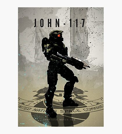 Heroes of Gaming - John 117 Photographic Print