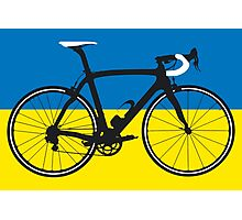 Bike Flag Ukraine (Big - Highlight) Photographic Print