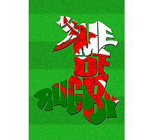 Wales Home of Rugby Typographic Map Photographic Print