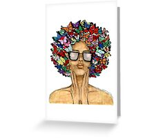 Butterfro Greeting Card