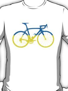 Bike Flag Ukraine (Big) T-Shirt