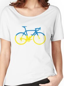 Bike Flag Ukraine (Big) Women's Relaxed Fit T-Shirt