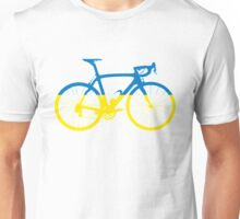 Bike Flag Ukraine (Big) Unisex T-Shirt