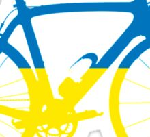 Bike Flag Ukraine (Big) Sticker