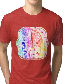 Rainbow Zentangle Elephant Tri-blend T-Shirt
