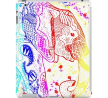 Rainbow Zentangle Elephant iPad Case/Skin