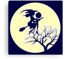 HALLOWEEN - MOONLIGHT WITCH Canvas Print