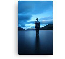 Mirror man in loch Canvas Print