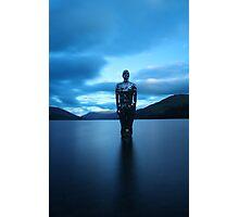 Mirror man in loch Photographic Print
