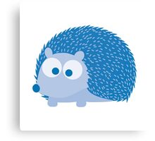 Cute Blue Hedgehog Illustration Canvas Print