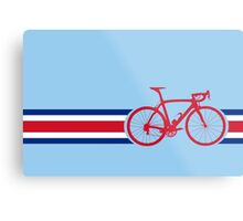 Bike Stripes Coata Rica Metal Print