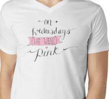 On Wednesdays we wear pink. Mens V-Neck T-Shirt