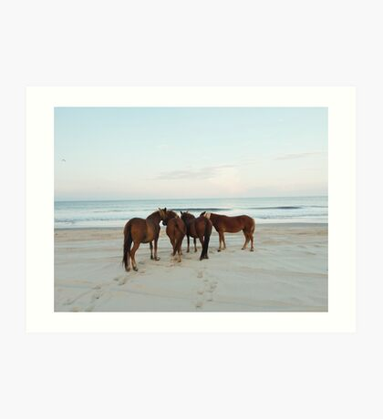Coastal Horse Meeting Art Print