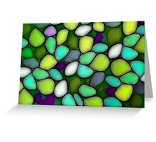 Abstract mosaic multicolored background Greeting Card