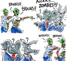 Zombies need Brains - Won't find them in Washington D.C. by Yotees