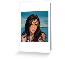 Liv Tyler Painting Greeting Card