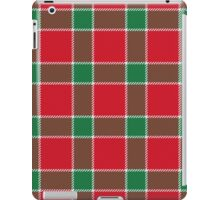 Bold Red, Green and White Holiday Christmas Plaid iPad Case/Skin
