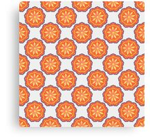 Pattern with abstract  mandala element Canvas Print