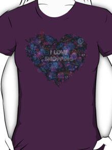 Shopping neon heart T-Shirt