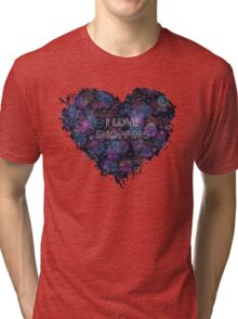Shopping neon heart Tri-blend T-Shirt