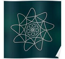 Abstract geometry sacral shape background Poster
