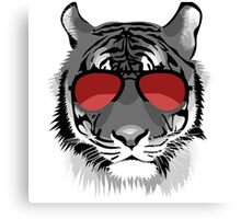 Tiger with Sunglasses Canvas Print