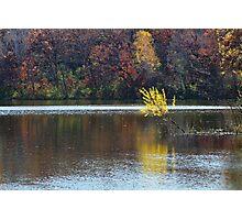 Schulze Lake in Autumn Photographic Print
