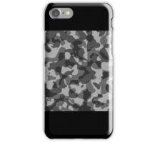 Camo Black Gray  iPhone Case/Skin