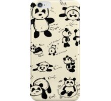 Colourful Panda Doodles iPhone Case/Skin