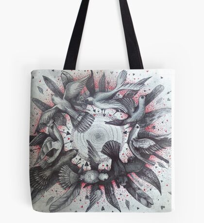 world wind of love birds Tote Bag