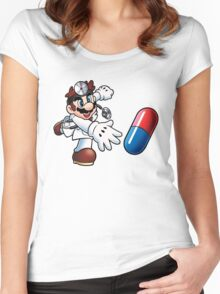 Dr. Mario Women's Fitted Scoop T-Shirt