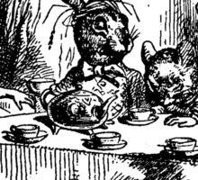 Alice in Wonderland Illustration Mad Hatter Sticker