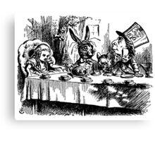 Alice in Wonderland Illustration Mad Hatter Canvas Print