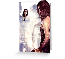 Dollhouse - Eliza Dushku Greeting Card