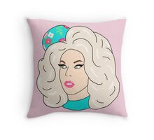 Katya Zamolodchikova Drag Race Glamazonian Airways Throw Pillow