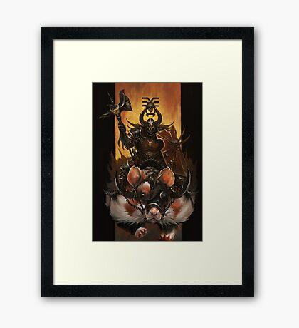 Battle Hamster Framed Print