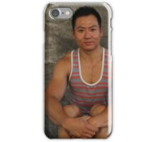 Male Sitting iPhone Case/Skin