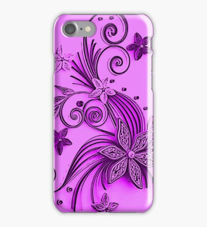 Pink and purple, floral design iPhone Case/Skin
