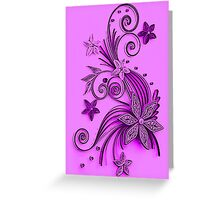 Pink and purple, floral design Greeting Card
