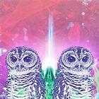 Techno Owls by viggosaurus