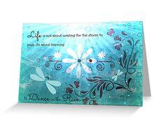 Dance in the Rain! Greeting Card