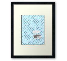 Sleepy Hamster Framed Print