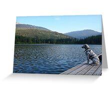 Spotting local wildlife at Lost Lake Greeting Card