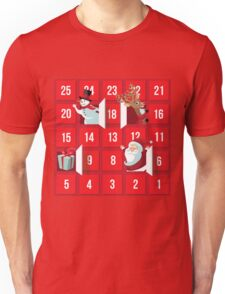 Cartoon Christmas Advent Calendar Unisex T-Shirt