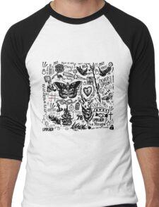 Larry Stylinson Tattoos Men's Baseball ¾ T-Shirt