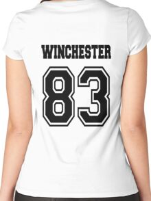 Winchester 83 Sam - Black Women's Fitted Scoop T-Shirt