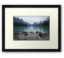 Still times at Maligne Lake Framed Print