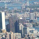 Aerial View, United Nations, Roosevelt Island, 59th Street Bridge, New York City    by lenspiro