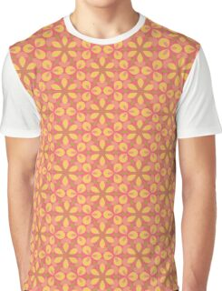 Pink and Yellow Floral Geometric Graphic T-Shirt