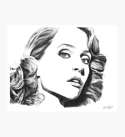Gillian Anderson- Fault photoshoot Photographic Print